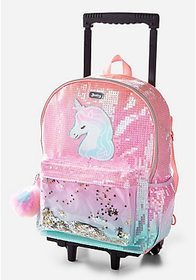 Justice Unicorn Ombre Shaky Rolling Backpack