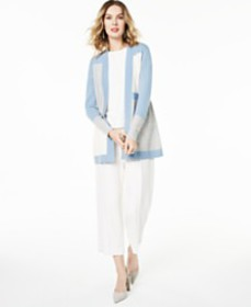 Charter Club Colorblocked Pure Cashmere Cardigan,
