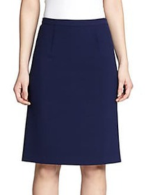 Diane von Furstenberg Eliza Pleat-Back Skirt BLACK