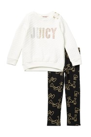 Juicy Couture Quilted Sweatshirt & Leggings Set (L