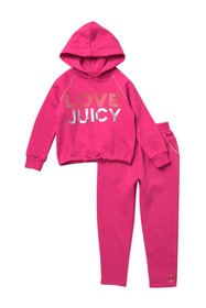 Juicy Couture Love Hoodie & Joggers Set (Little Gi