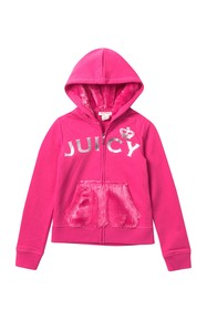 Juicy Couture Zip Up Hoodie with Faux Fur Pocket (