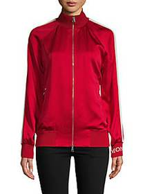 Moncler Raglan-Sleeve Zip-Front Jacket RED