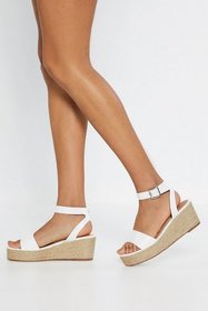 Nasty Gal Womens White Espadrille There Be Sun Wed