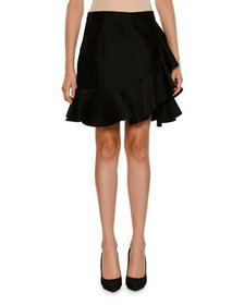 Stella McCartney Side-Ruffle Peplum-Hem Mini Skirt
