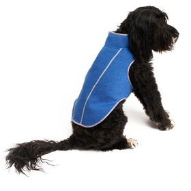 Royal Animals Fleece Dog Jacket - Blue