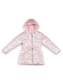 Betsey Johnson Little Girl's Quilted Hooded Jacket