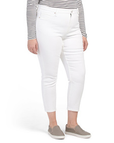 MAX STUDIO Plus High Rise Skinny Ankle Jeans