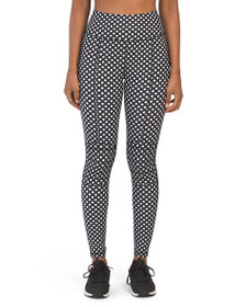 C&C High Waist Polka Dot Leggings With Mesh Insert