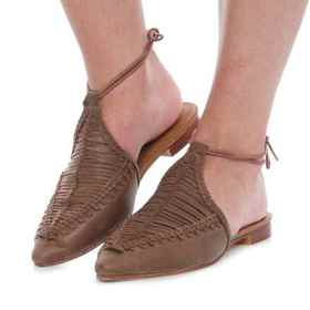 Free People Dana Woven Flats - Leather (For Women)