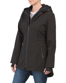 FRENCH CONNECTION Zip Front Coat With Bib