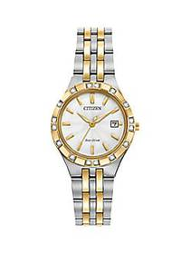 Citizen Eco-Drive Diamond & Two-Tone Stainless Ste