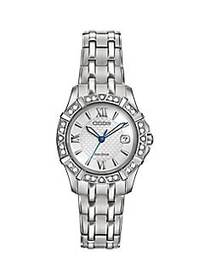 Citizen Eco-Drive Diamond & Stainless Steel Bracel