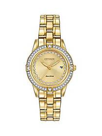 Citizen Silhouette Crystal Goldtone Stainless Stee