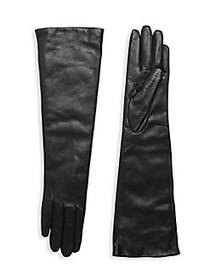 Portolano Slip-On Leather Gloves BLACK