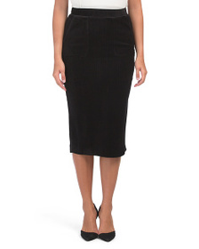 CATHERINE MALANDRINO Ribbed Soft Skirt