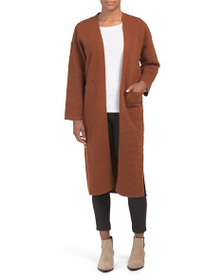 J.O.A. Side Button Oversized Duster Cardigan