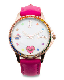 JUICY COUTURE Women's Multi Colored Crystal Bezel
