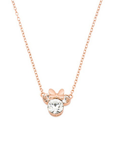 DISNEY Sterling Silver Minnie Mouse Crystal Neckla