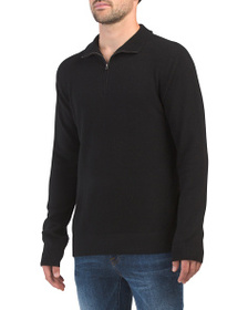 FRENCH CONNECTION Cashmere Quarter Zip Sweater