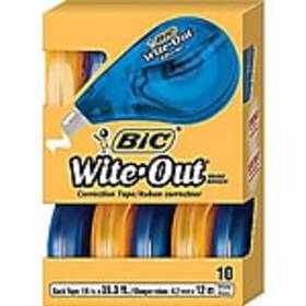 BIC Wite-Out EZ Correct Correction Tape, 10/Pack (