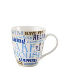 Pfaltzgraff Lake Themed Words Mug