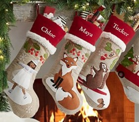 Pottery Barn Woodland Stocking Collection