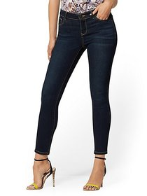Mid-Rise Super-Skinny Ankle Jeans - Northern Blue