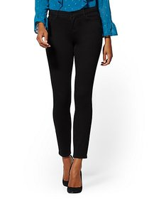 Mid-Rise Super-Skinny Jeans - Always Black - New Y
