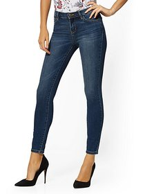 Mid-Rise Super-Skinny Jeans - Blue Honey - New Yor