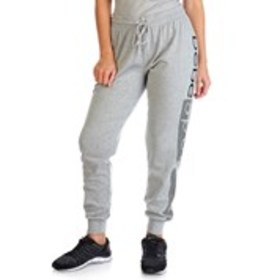BEBE Fleece Lined Racing Stripe Logo Joggers