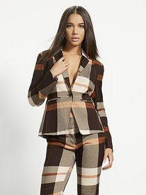 Plaid One-Button Jacket - 7th Avenue - New York &