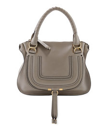 Chloe Marcie Medium Double Leather Satchel Bag