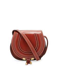 Chloe Marcie Small Leather Crossbody Saddle Bag