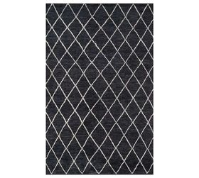 Pottery Barn Alejo Hand-Knotted Rug - Black