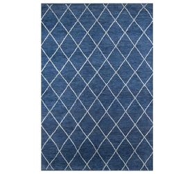 Pottery Barn Alejo Hand-Knotted Rug - Blue