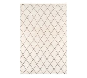Pottery Barn Alejo Hand-Knotted Rug - Ivory