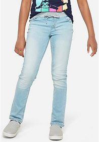 Justice Knit Waist Straight Jeans