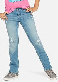 Justice Destructed Bootcut Jeans