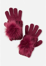 Justice Pompom Double Layer Gloves
