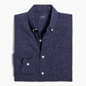 J. Crew Factory Slim marled-cotton shirt