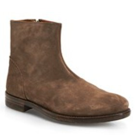 Mens Suede Plain Toe Ankle Boots