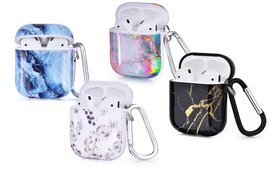 AirPod Shockproof Hard Case with Keychain for AirP