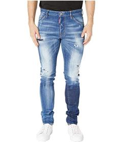 DSQUARED2 Acid Green Spots Wash Cool Guy Jeans in
