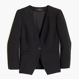 J. Crew Collarless fitted blazer in 365 crepe