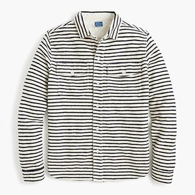 J. Crew French terry shirt in stripe