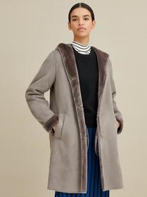 Marc New York Faux Shearling Hooded Coat
