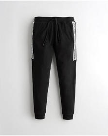 Hollister Skinny Terry Jogger Pants, BLACK