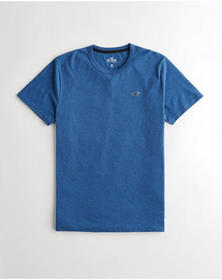 Hollister Must-Have Crewneck T-Shirt, HEATHER BLUE