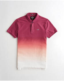 Hollister Stretch Polo, BURGUNDY OMBRE